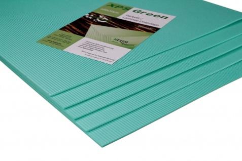 1qm Trittschalldämmung 3mm - 5mm Wärmedämmung XPS Green für Laminat Parkett