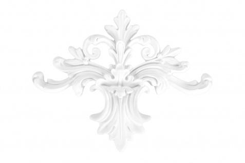 1 Ornament Dekorelement PU Stuckdekor Innen Wanddekor stoßfest 185x240mm, A608