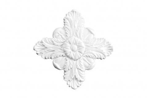 1 PU Dekorelement Stuckdekor Ornament stoßfest Hexim 238x238mm FR50