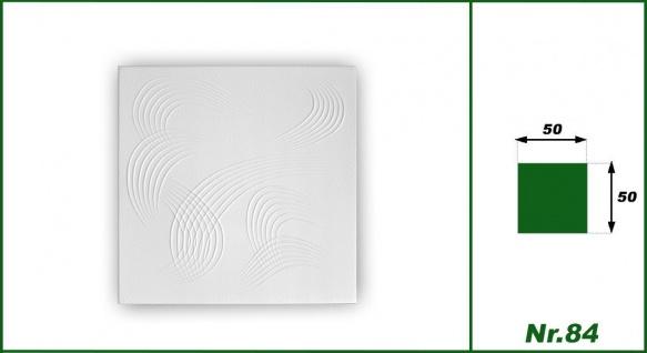 1 qm Deckenplatten Polystyrolplatten Stuck Decke Dekor Platten 50x50cm Nr.84 - Vorschau 2