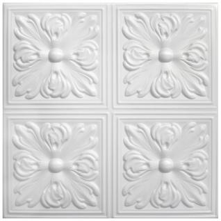 1 qm Deckenplatten Polystyrolplatten Stuck Decke Dekor Platten 50x50cm Nr.05
