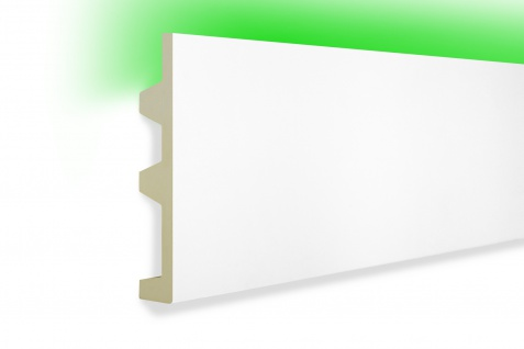 2 Meter LED Profile PU Stuck indirekte Beleuchtung stoßfest Tesori 142x25mm KF505