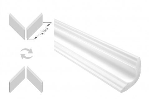 Stuckleisten inkl. Ecken  XPS   stabil   Marbet   35x35mm   E-42-NK