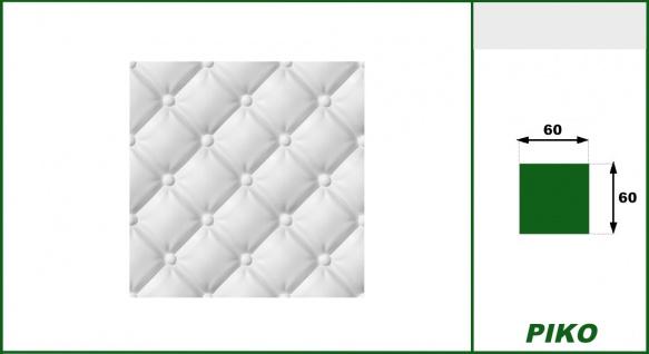 3D Wandpaneele Styroporplatten Wandverkleidung Wanddekor Paneele Piko 1 Platte - Vorschau 2