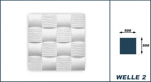 1 qm Deckenplatten Polystyrolplatten Stuck Decke Dekor Platten 50x50cm Welle2 - Vorschau 3
