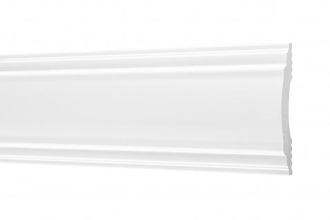 2 Meter Flachleisten HXPS Zierleisten Ecopolimer stoßfest hart Cosca 11x70mm CM32