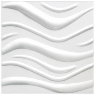3D Paneele PS Platten Wand Decke Verkleidung Wandplatten Sparpaket 50x50cm Hexim Wave