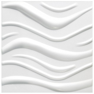 3D Wandpaneele Styroporplatten Wandverkleidung Wanddekor Verblender Wave Sparpaket