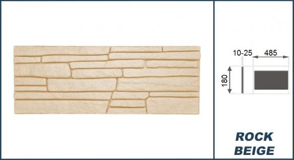 Dekorsteine Steinoptik Wandplatten Styroporplatten Verblender 48x18cm Rock beige - Vorschau 3