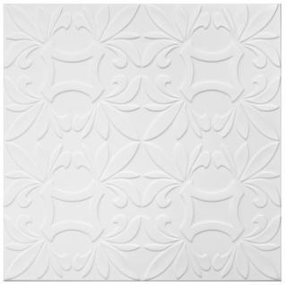 1 qm Deckengestaltung Polystyrolplatten Stuck Decke Dekor Platten 50x50cm, Nr.112