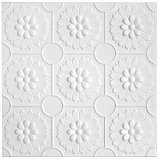 1 qm Deckenplatten Styroporplatten Stuck Decke Dekor Platten 50x50cm Nr.77