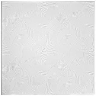 1 qm Deckenplatten Polystyrolplatten Stuck Decke Dekor Platten 50x50cm Nr.100