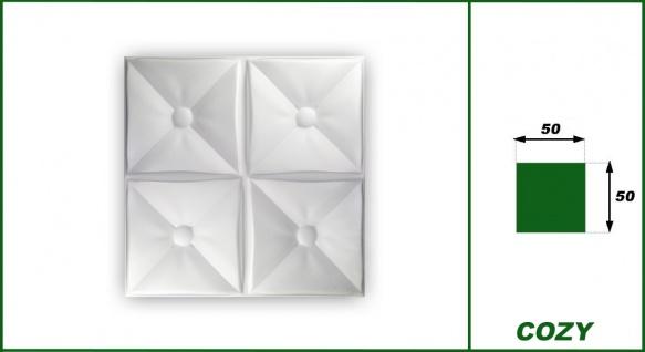 3D Wandpaneele Styroporplatten Wandverkleidung Wanddekor Paneele Cozy 1 qm - Vorschau 2
