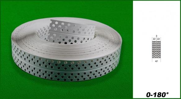 Eckschiene aus PVC 0°-180° Ecken Trockenbau Hexim Sparpaket 22x8mm - Vorschau 2