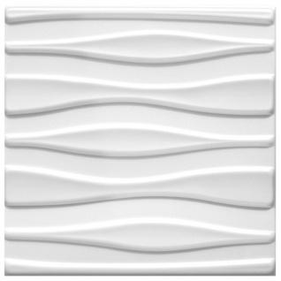 1 qm 3D Paneele Wand Decke Verkleidung Wandplatten Sparpaket 50x50cm Hexim Tube