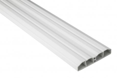 Zaunlatten PVC Garten weiß Außenbereich Profile Sparpaket Hexim 80x16mm PZL-01