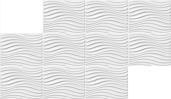 1 qm 3D Platten Natur Stuck ökologisch Paneele 3D Elite Panels 62x80cm Eleanor - Vorschau 3