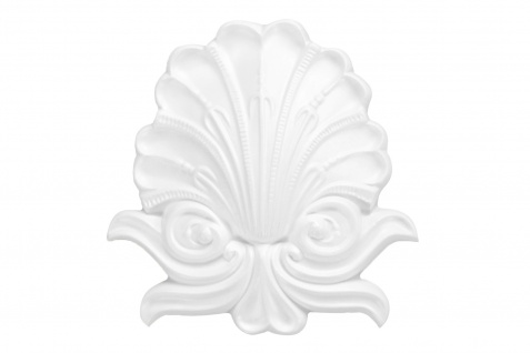 1 Ornament Dekorelement PU Stuckdekor Innen Wanddekor stoßfest 130x126mm, A688