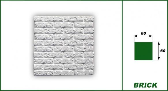 3D Wandpaneele Styroporplatten Wanddekor Ziegelsteine Verblender Brick Sparpaket - Vorschau 2