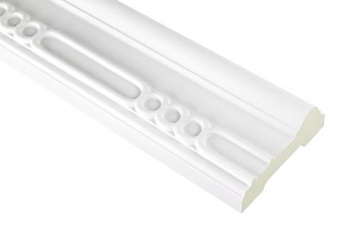 2 Meter | PU Flachleiste Profil Innen Dekor stoßfest | Hexim | 91x35mm | FH9459