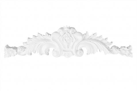 1 Ornament Dekorelement PU Stuckdekor Innen Wanddekor stoßfest 290x80mm, W832
