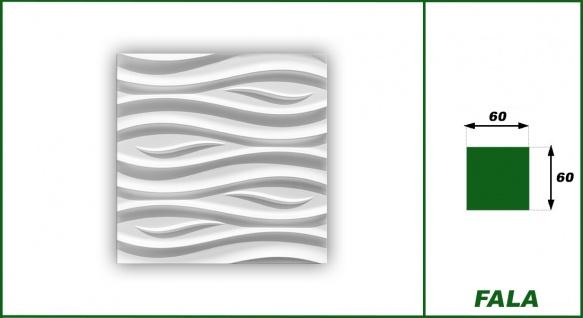 3D Wandpaneele Styroporplatten Wandverkleidung Wanddekor Paneele Fala 1 Platte - Vorschau 2