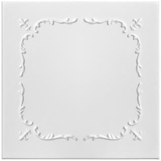 1 qm Deckenplatten Polystyrolplatten Stuck Decke Dekor Platten 50x50cm Nr.17
