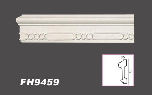 FH9422 Hexim 2 Meter PU Flachleiste Profil Innen Dekor sto/ßfest 50x17mm