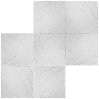 1 qm Deckenplatten Polystyrolplatten Stuck Decke Dekor Platten 50x50cm Nr.43 - Vorschau 3