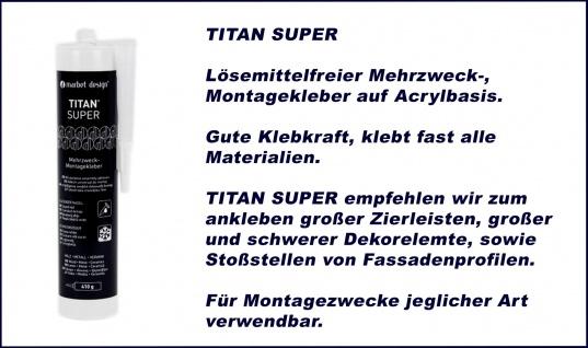 1 Kartusche Montagekleber Acryl Baukleber wasserfest weiss Marbet Titan Super - Vorschau 2