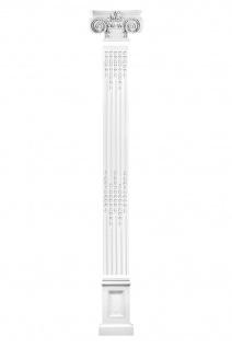 Pilaster Fassade Komplett Wand Bauteile Flachsäule Dekor PU stoßfest FR31