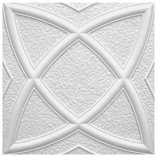 1 qm Deckenplatten Polystyrolplatten Decke Dekor Platten 50x50cm Mars