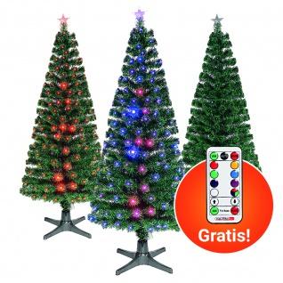 Weihnachtsbaum LED Glasfaser Tannenbaum PVC künstlich Christbaum Fernbedienung