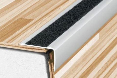 1, 8 Meter Winkel Eckprofile Alu Treppenleiste eloxiert Anti-Rutsch 41x26mm A44