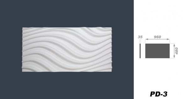 Sparpaket 3D Paneele Wandverkleidung Wandplatten formfest Marbet 96x48cm PD-3 - Vorschau 2