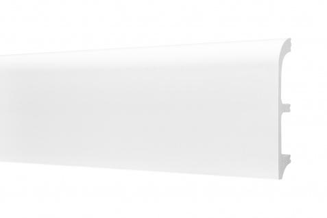 2 Meter Sockelleisten HXPS Eckleisten Ecopolimer stoßfest Cosca 20x99mm CP14