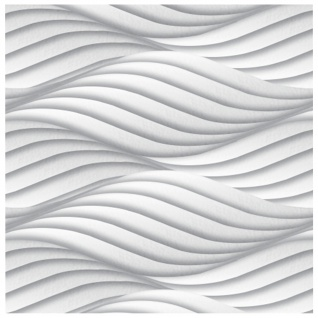 3D Paneele PS Platten Wanddekoration Dekoration Wandplatten Sparpaket 60x60cm Hexim Wind