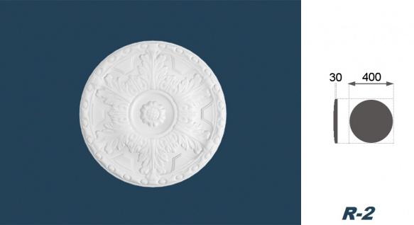 1 Rosette | Decke Stuck Innendekor EPS Dekor Marbet Durchmesser 40cm R-2 - Vorschau 3