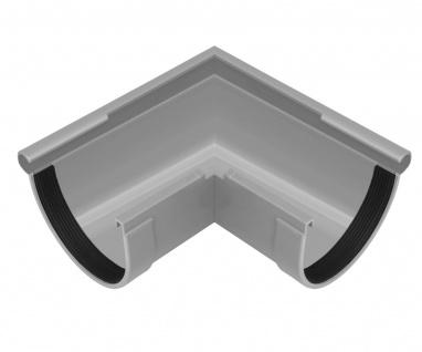 PVC RainWay Regenrinnensystem Regenwasser stoßfest Regenrinne Eckstück außen 90° - Vorschau 2