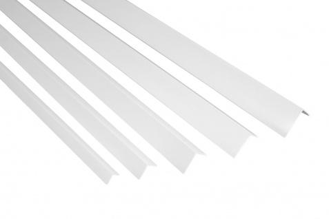 2 Meter | Winkelleiste | PVC | Kunststoff | Effector | F Profile