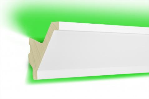 2 Meter | LED Profil | indirekte Beleuchtung | lichtundurchlässig | Leiste | 80x80mm | LED-15
