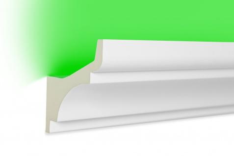 2 Meter LED Profil PU Stuck indirekte Beleuchtung stoßfest Hexim 80x80mm LED-2