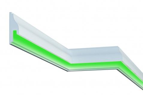 Fassadenleiste LED indirekte Beleuchtung stoßfest 55x170mm MC306