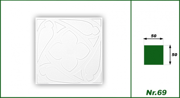 1 qm Deckenplatten Polystyrolplatten Stuck Decke Dekor Platten 50x50cm Nr.69 - Vorschau 3