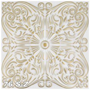 1 qm Deckenplatten Polystyrolplatten Stuck Decke Dekor Platten 50x50cm Nr.76 - Vorschau 5