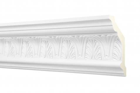 2M Zierprofil 125x65mm - Stuckleiste aus PU gemustert, stoßfest - Perfect AA045