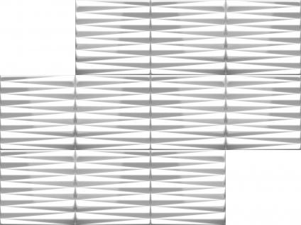 3D Wandpaneele Styroporplatten Wandverkleidung Wanddekor Verblender Pyramid Sparpaket - Vorschau 3