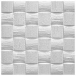 1 qm Deckenplatten Polystyrolplatten Stuck Decke Dekor Platten 50x50cm Len - Vorschau 5