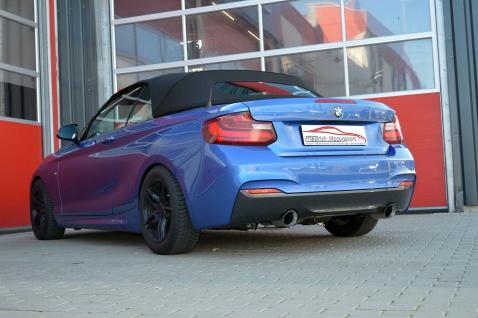 Friedrich Motorsport 70mm Sportauspuff Anlage BMW 2er F22/F23 218 100kW Bj.03/15