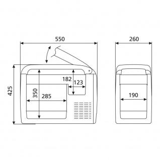 Dometic Waeco Coolfreeze Kühlbox Kompressorkühlbox Cf-26 Cf26 12v 230v Eek A++ - Vorschau 5